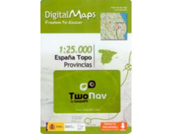 Mapa Digital Twonav Provincies